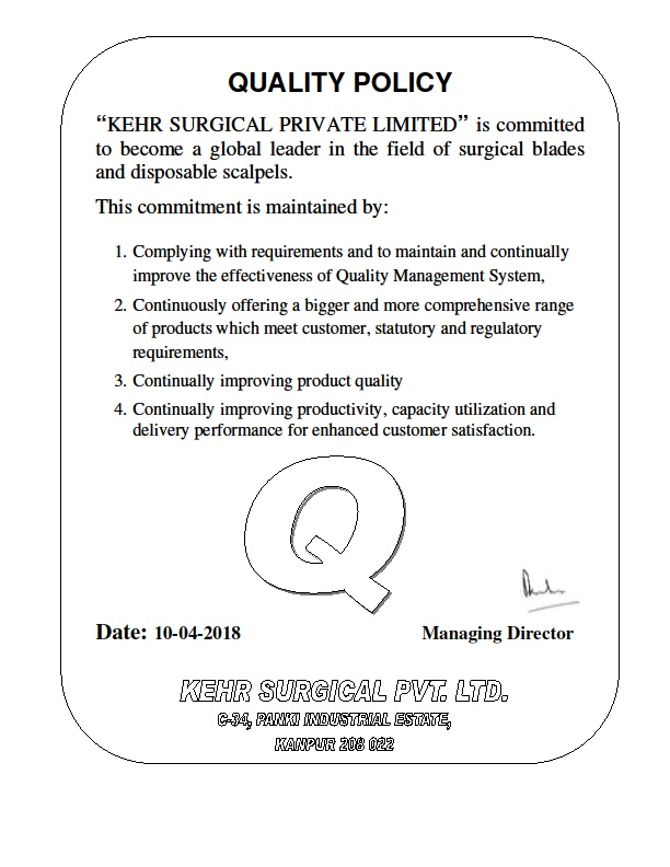 Kehr Surgical Private Limited Policy